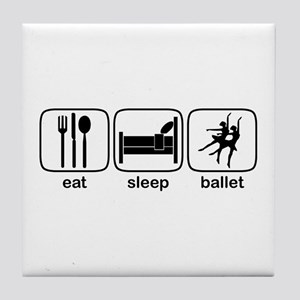 Eat Sleep Ballet Tile Coaster