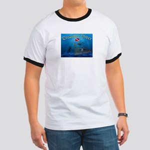 Treasure Diver Ringer T