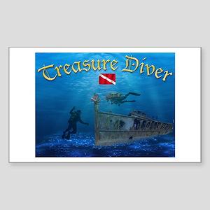 Treasure Diver Rectangle Sticker