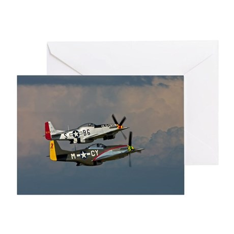 P-51 Mustang formation Greeting Card