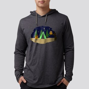 Campsite Mens Hooded Shirt