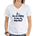 Walking Alone Women's V-Neck T-Shirt