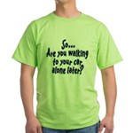 Walking Alone Green T-Shirt