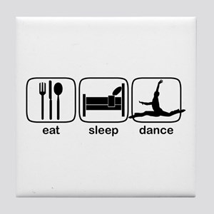 Eat Sleep Dance Tile Coaster