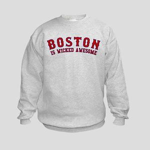 boston is wicked awesome Kids Sweatshirt
