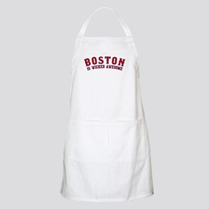 boston is wicked awesome BBQ Apron