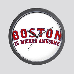 boston is wicked awesome Wall Clock