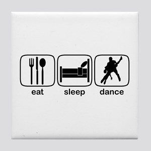 Eat Sleep Dance 2 Tile Coaster