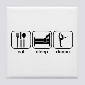 Eat Sleep Dance 3 Tile Coaster