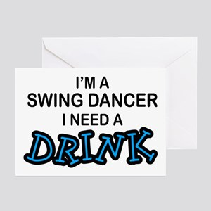 Swing Dancer Need a Drink Greeting Cards (Pk of 10