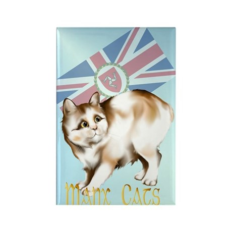 Manx Cats Rectangle Magnet (100 pack)