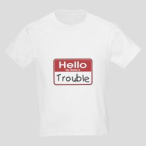Hello Trouble Kids Light T-Shirt