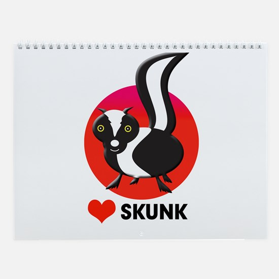 love skunk Wall Calendar