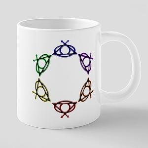 SuperQUEERO Team Symbols Ci 20 oz Ceramic Mega Mug