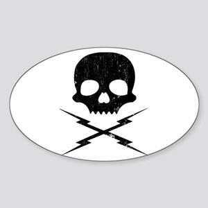 death proof stuntman mike Oval Sticker