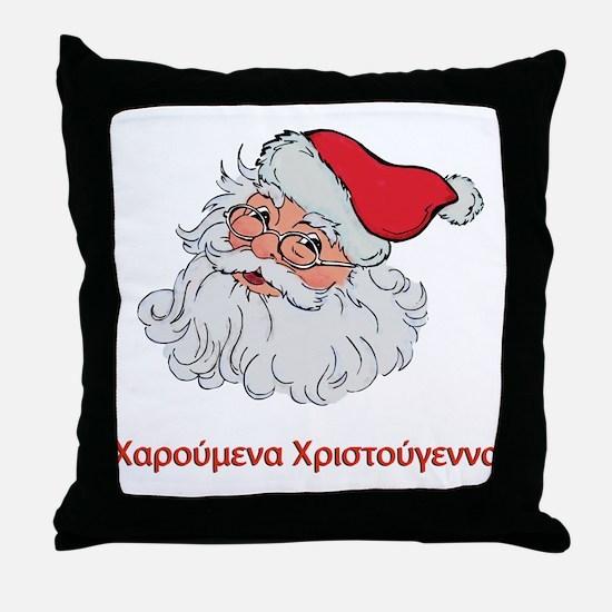 Greek Santa Throw Pillow