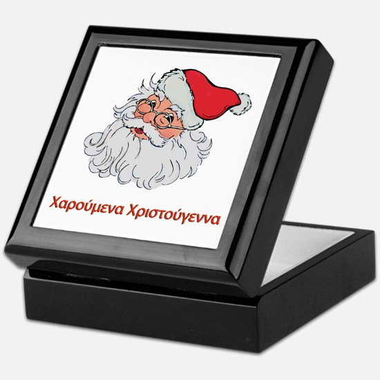 Greek Santa Keepsake Box
