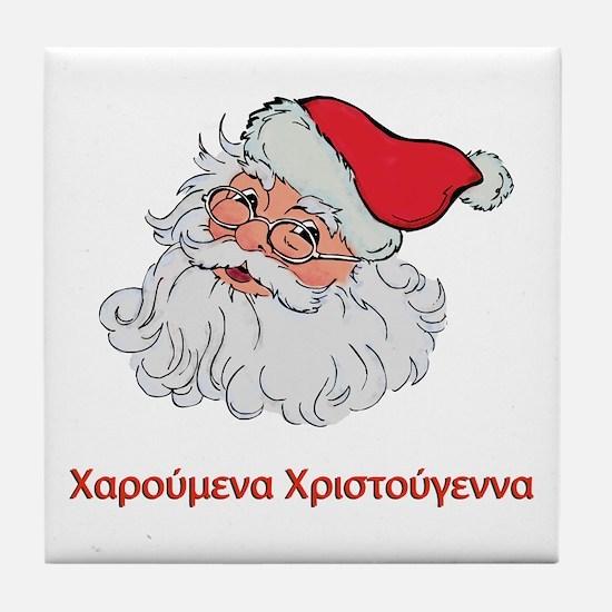 Greek Santa Tile Coaster