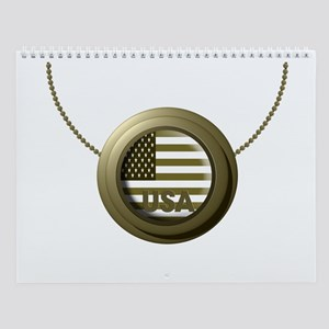 USA Gold Wall Calendar