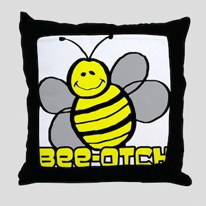 Beeotch Throw Pillow