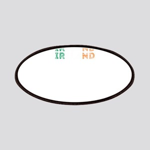 Ireland Text Flag Irish Pride Design Patch