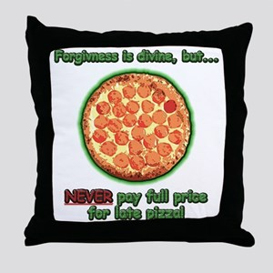 Wise Pizza Throw Pillow