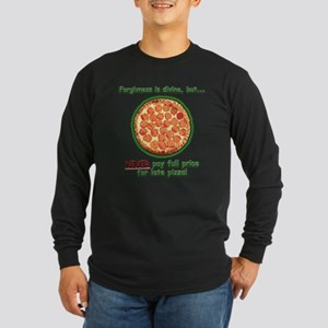 Wise Pizza Long Sleeve Dark T-Shirt