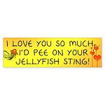 Pee on Your Jellyfish Sting Bumper Sticker (10 pk)
