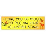 Pee on Your Jellyfish Sting Bumper Sticker (50 pk)