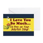Pee on Your Jellyfish Sting Greeting Cards (Pk of