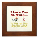 Pee on Your Jellyfish Sting Framed Tile