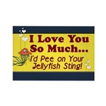 Pee on Your Jellyfish Sting Rectangle Magnet (10 p