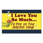 Pee on Your Jellyfish Sting Rectangle Sticker