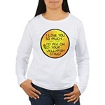 Pee on Your Jellyfish Sting Women's Long Sleeve T-