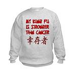 Kung Fu Stronger Than Cancer Kids Sweatshirt