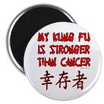 Kung Fu Stronger Than Cancer Magnet