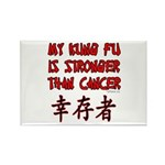 Kung Fu Stronger Than Cancer Rectangle Magnet