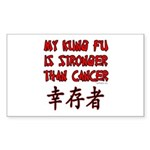 Kung Fu Stronger Than Cancer Rectangle Sticker
