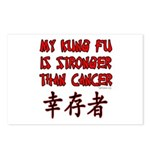 Kung Fu Stronger Than Cancer Postcards (Package of