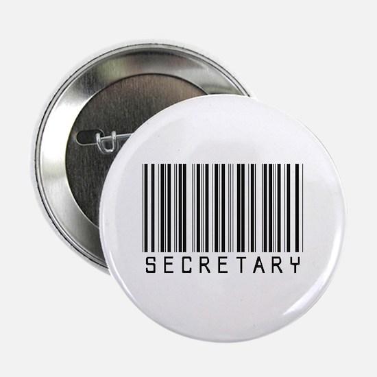"""Secretary Barcode 2.25"""" Button"""