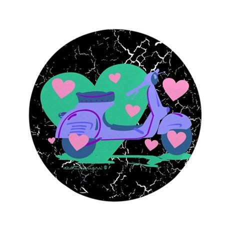 """Scooter Hearts 3.5"""" Button (100 pack)"""