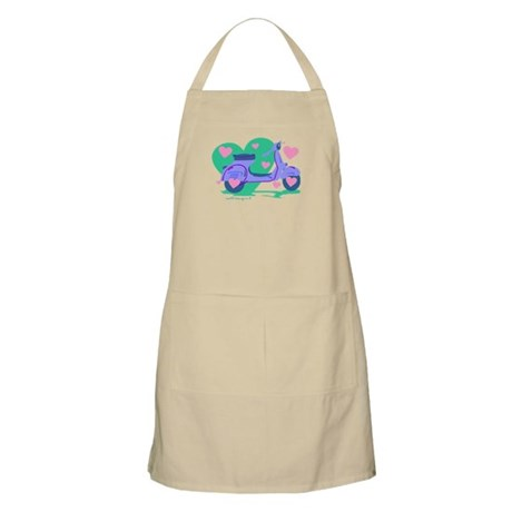 Scooter Hearts BBQ Apron
