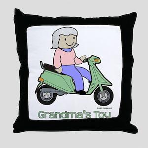 Grandma's Toy Throw Pillow