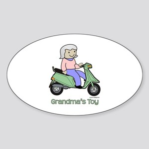 Grandma's Toy Oval Sticker