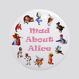 MAD ABOUT ALICE - PINK Ornament (Round)
