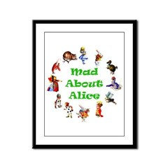 MAD ABOUT ALICE - GREEN Framed Panel Print