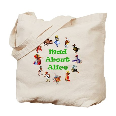 MAD ABOUT ALICE - GREEN Tote Bag