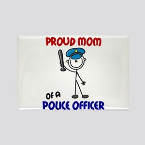 Proud Mom 1 (Police Officer) Rectangle Magnet