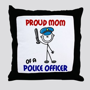 Proud Mom 1 (Police Officer) Throw Pillow