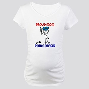 Proud Mom 1 (Police Officer) Maternity T-Shirt